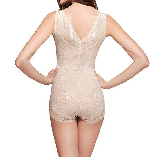 fa92ddc64ba1f Shymay Women s Lace Bodyshaper Corset Body Briefer Bodysuit Slimming ...