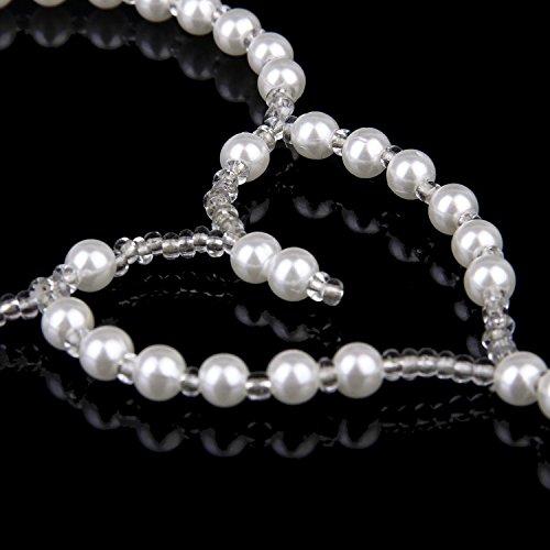 TOOGOO(R) Perle des Sandales aux Pieds Nus Plage Cheville Mariage Nuptiale Bracelet Cheville A01