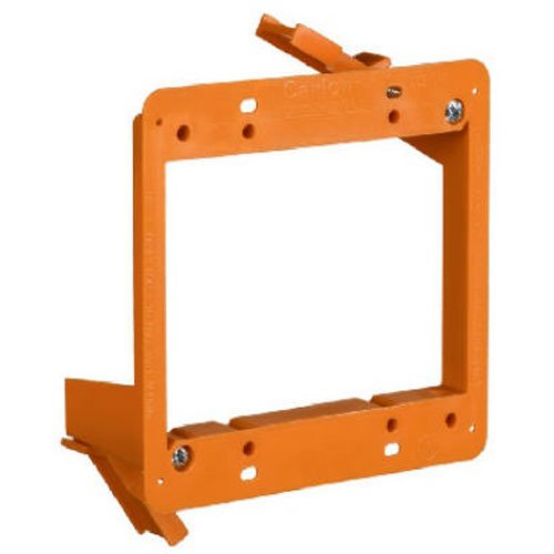 Carlon SC200RR Outlet Box Low Voltage Bracket, Backless, 2 Gang, 4-Inch Length by 3.92-Inch Width, Orange Thomas & Betts
