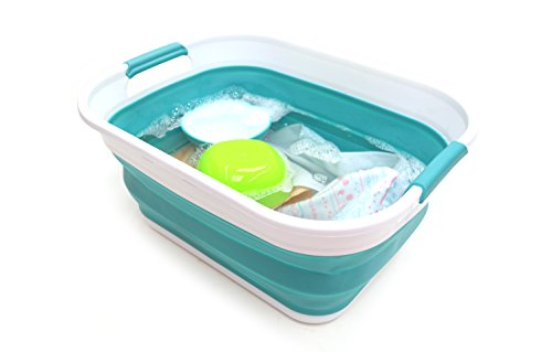 SAMMART Collapsible/Foldable / Pop Up/Portable Washing Tub (Bright Blue) …