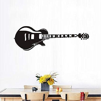 Ponana Guitarra Eléctrica Pegatinas De Pared Silueta Música Tatuajes De Pared Etiqueta Engomada De Vinilo Decoración