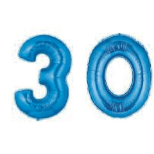 Grabo Giant 30th blu Number Balloons by Grabo