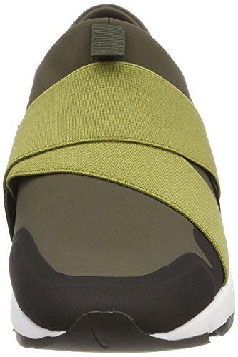 Cordones Runn Hugo Verde Green Hombre sin Zapatillas Hybrid Medium para neoel pqSaO