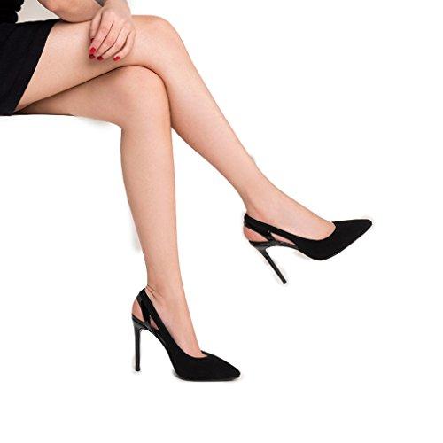 Couleur hauts cm Wild 3 Noir Noir Noir Pointé 10 à Retour talons Nouveau Shoes Sandales 2018 taille 39 Chaussures à hauts Rainbow Femme talons givré RwU78Cq