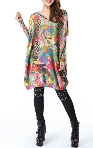 ELLAZHU Femme Tricot Pull Sweater Lache Imprim qvzwgpUq