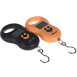 Rosbane(TM)LCD Display Double Precision Digital Pocket Electronic Hanging Scale Weight Hook 50kg,Yellow