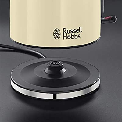 Russell Hobbs Colours Plus - Hervidor de Agua Eléctrico (2400 W, 1,7 litros, Acero Inoxidable, Crema) - ref. 20415-70