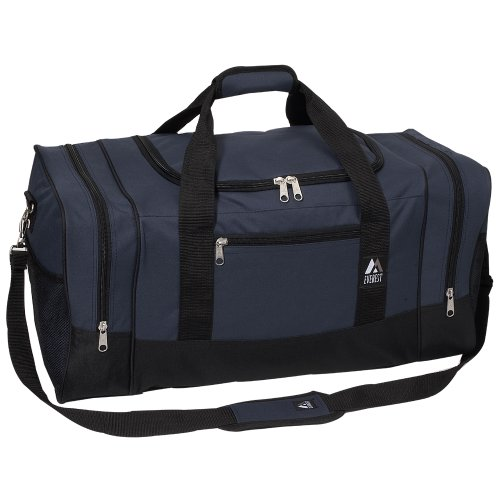 Everest Luggage Sporty Gear Bag - Large, Navy/Black, Navy/Black, One ()