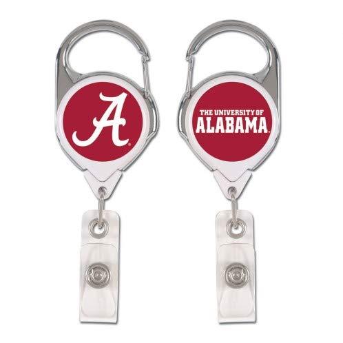 (WinCraft NCAA Alabama Crimson Tide Badge HolderPremium Retractable Badge Holder, Team Colors, One Size)