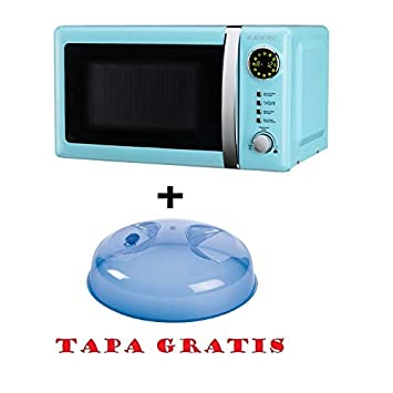 Microondas Jocel JMO001306, 20 L, 800 W, Azul + tapa para micro ...