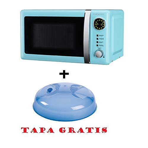 Microondas Jocel JMO001306, 20 L, 800 W, Azul + tapa para ...