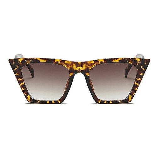 Style Vintage Cat Frijol Lens Eye Sunglasses Oval Flor plástico Yefree de marco Retro Women 5qwfxx1tv