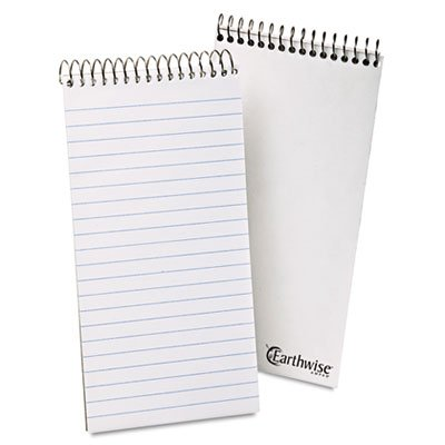 Ampad 25-280 Recycled Reporters Notebook - 70 Sheet[s] - 15lb - Ruled - 4 X 8 - 1 Each - White
