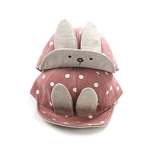 Tinksky Baby Boy Girl Kid Toddler Infant Sun Hat Peaked Baseball Beret Cap (Pink) - 1973 Baseball