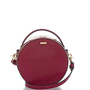 Brahmin Lane Leather Shoulder Bag Fuschia