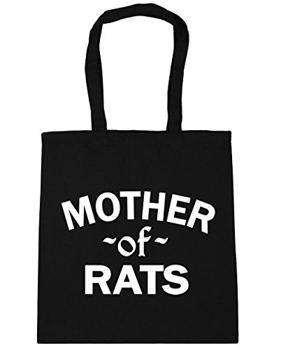 HippoWarehouse Tote 10 Black Of litres Gym Shopping Rats Bag 42cm x38cm Mother Beach vrxtFr
