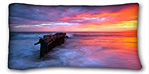 """Custom ( Nature Sea Ocean ocean coral Reefs ) Pillowcase Standard Size 20""""X36"""" Design Pillow Case Cover suitable for King-bed PC-Green-25522"""