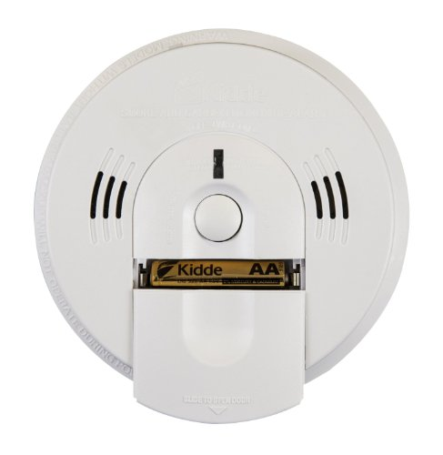 Kidde Battery-Operated(Not Hardwired) Combination Smoke/Carbon Monoxide Alarm with Voice Warning KN-COSM-BA - Kidde Front Load Battery