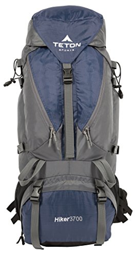 TETON Sports Hiker 3700 Ultralight Internal Frame Backpack - Not Your Basic Backpack; High-Performance Backpack for Hiking, Camping, Travel, and Outdoor Activities; Sewn-in Rain Cover; Navy ()