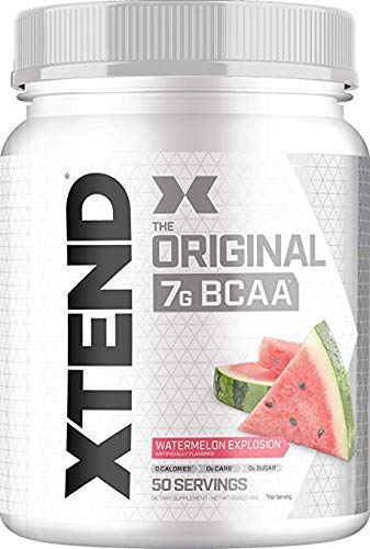 Scivation XTEND Original BCAA Powder Watermelon Explosion | Sugar Free Post Workout Muscle Recovery Drink with Amino Acids | 7g BCAAs for Men & Women| 50 Servings