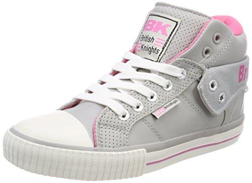 Cavalieri Britannici Signore Roco Alta Sneaker Grigio (lt Grigio / Rosa)