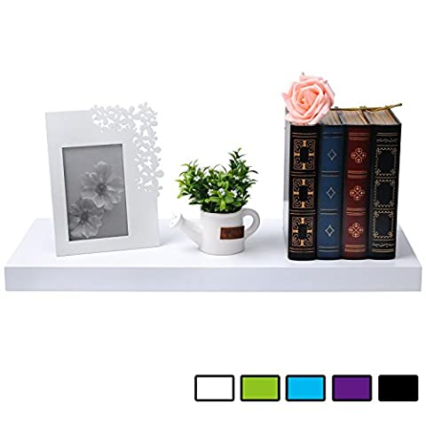 WOLTU Floating Wall Shelves MDF Wall Mount Wood Ledge Display and Organizer Rack with Hidden Brackets,31.5