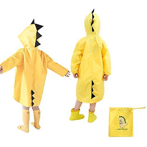 Coat Raincoat (Doubmall Raincoat for Kids Rain Jacket Age 4-7 Cute Dinosaur Shaped Child's Funny Lightweight Outdoor Cartoon Rain Wear Slicker for Boys for Girls [M Size])