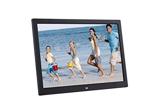 "Becoler 15"" Digital Photo & HD Video (720p) Frame High-definition Widescreen Ultra-thin Narrow Side LED Electronic Photo Album,Support SD,MS,MMC Memory Card Pretty Christmas Gift"