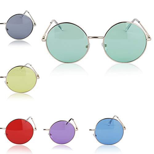 '60s 70s Hippie Cheap Sunglasses Sunglass Party Ozzy Coachella Big Bulk 6 Pack]()