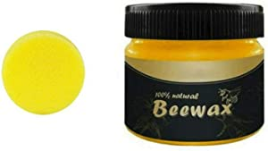 85g Wax Wood Seasoning Beewax Furniture Care Beeswax Home Cleaning Organic 100% Natural Pure (85g Beewax1 Sponge)
