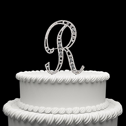 Hatcher lee Diamante Rhinestone Crystal Monogram Letter Alphabet Cake Toppers for Wedding Birthday Party Decoration 1pcs ()