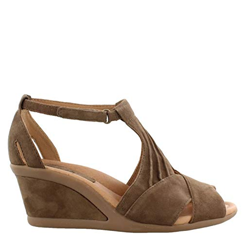 Khaki Earth - Earth Women's, Curvet Wedge Heel Sandals Khaki 6 W