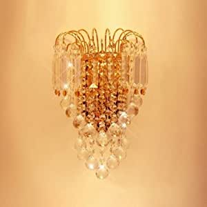 QIANG Graceful Scrolls Crystal Wall Sconce Offers Dramatic Addition to Your Decor