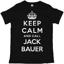 Batch1 Men's 24 Keep Calm And Call Jack Bauer Kiefer Sutherland T-Shirt X-Large Black