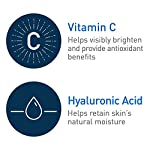 CeraVe Vitamin C Serum with Hyaluronic Acid   Skin Brightening Serum for Face with 10% Pure Vitamin C   Fragrance Free   1 Fl. Oz