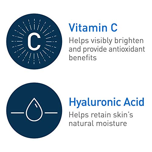 CeraVe Vitamin C Serum with Hyaluronic Acid | Skin Brightening Serum for Face with 10% Pure Vitamin C | Fragrance Free | 1 Fl. Oz