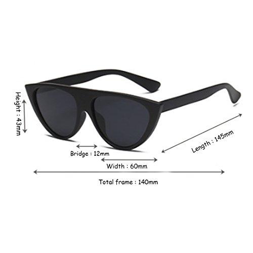 de personalidad Mate calle gafas sol de gafas mujer tendencia gato ojos moda Negro moda Inlefen sol AwYqf7Z8x