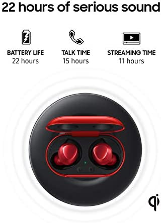 Samsung Galaxy Buds Plus, Auriculares inalámbricos con batería Mejorada y Calidad de Llamada (Estuche de Carga inalámbrica Incluido), Rojo - versión para EE. UU. 4