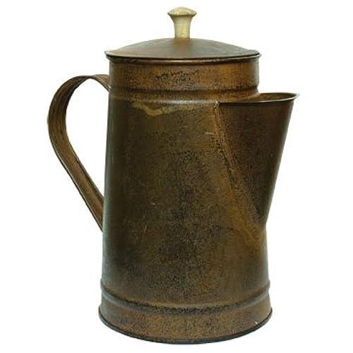 Rusty Tin Metal Coffee Pot Rustic Black Distressing Country Primitive  Kitchen DÃcor By BCD