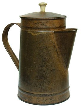 Rusty Tin Metal Coffee Pot Rustic Black Distressing Country Primitive Kitchen DÃcor by BCD
