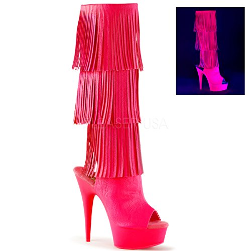 3 Delight Faux Pink Leather 2019 H Neon neon Pleaser ZPTWBScqW