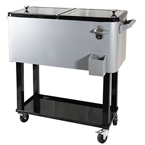 Clevr Outdoor 80quart Portable Rolling