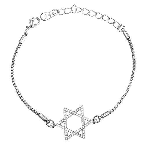Platinum Plated Chain David Bracelet