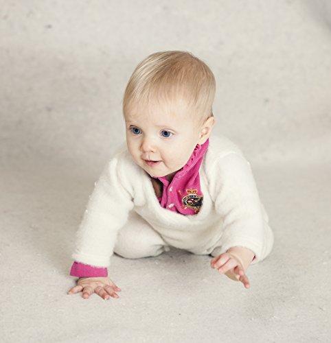 LANACARE Organic Wool Baby Sweater, Natural White, size 62 (3-6 mo) by LANACare