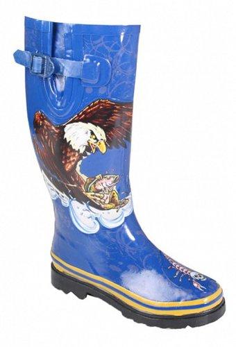 Henry Ferrera Womens Eagle Stivali Da Pioggia Taglia 5 Codice (m6)