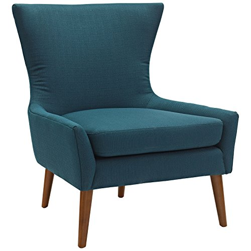 Amazon.com: Modway Keen Upholstered Fabric Armchair in Azure ...