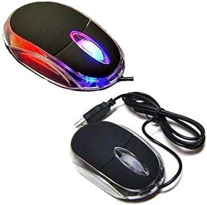 Frybrid Black 3-Button 3D USB 800 Dpi Optical Scroll Mice Mouse LEDs for Notebook Laptop Desktop