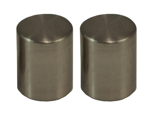(Urbanest Cylinder Lamp Finial for Lamp Shades, Set of 2, Brushed Nickel )