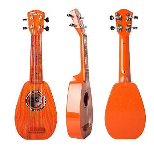 17 Inch Mini Guitar Ukulele Toy For Kids,Guitar Children Educational Learn Guitar Ukulele With the Picks and Strap Can Play Musical Instruments Toys (17 Inch Ukulele-2) ()