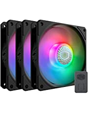 Cooler Master SickleFlow 120 Addressable RGB 3 in 1 Square Frame Fan, Individually Customizable LEDs, Air Balance Curve Blade Design, Sealed Bearing, PWM Control for Computer Case & Liquid Radiator
